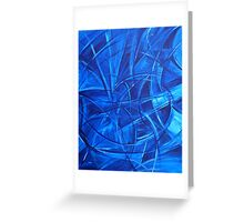 Study in Blue 2. Greeting Card