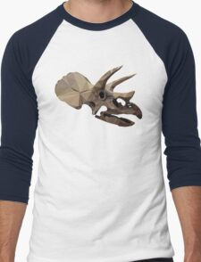 Polygon Triceratops Men's Baseball ¾ T-Shirt