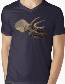 Polygon Triceratops Mens V-Neck T-Shirt
