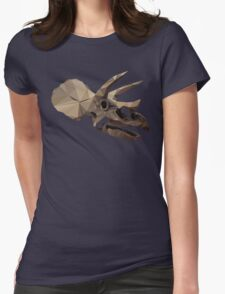 Polygon Triceratops Womens Fitted T-Shirt