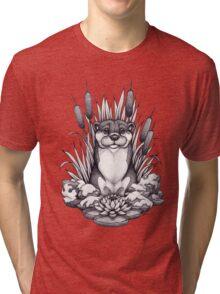 Otter & Aquatic Plants Tri-blend T-Shirt