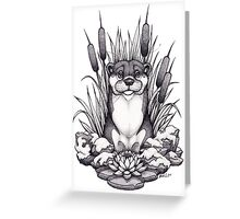 Otter & Aquatic Plants Greeting Card