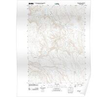 USGS Topo Map Oregon Circle Bar 20110831 TM Poster