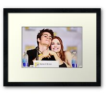Dylan O'Brien and Hollan Roden Comic Con Framed Print