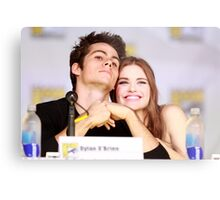 Dylan O'Brien and Hollan Roden Comic Con Metal Print