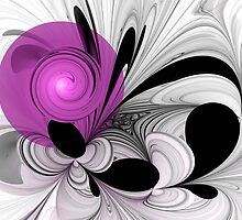 Abstract Black and White with Orchid by gabiw