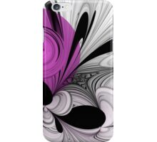 Abstract Black and White with Orchid iPhone Case/Skin