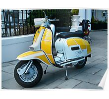 Yellow Peril scooter Poster