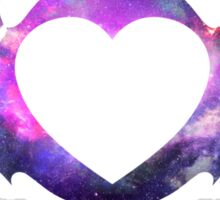 galaxy bat heart Sticker