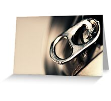 A beer can... after a hot day... Greeting Card