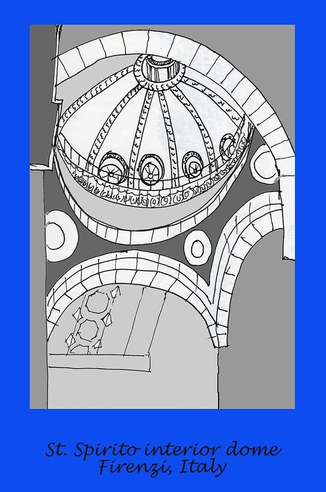 Italy- St. Spirito interior dome- Firenze by James Lewis Hamilton