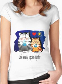 Love is eating cupcakes together Women's Fitted Scoop T-Shirt