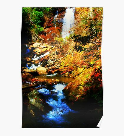 Anna Ruby Falls - right side Poster