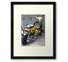 Rat Fink scooter Framed Print