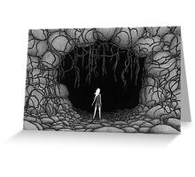 Cave - Sophia at the Mouth of the Cave Greeting Card