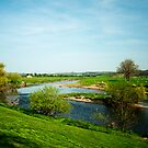 River Ribble At Ribchester by John Hare