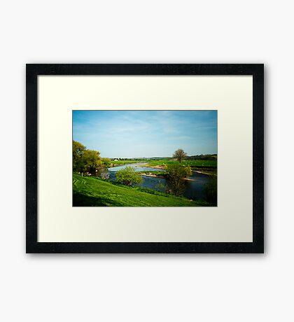 River Ribble At Ribchester Framed Print