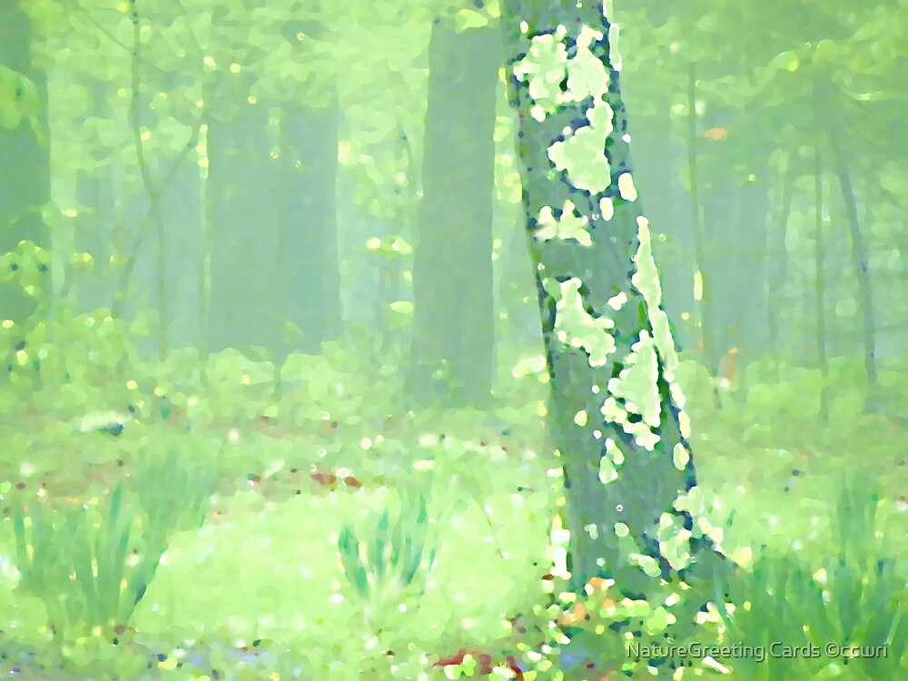 Van Gogh Spring Forest by NatureGreeting Cards ©ccwri