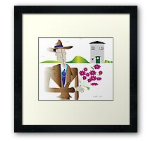On the street where you live...... Framed Print