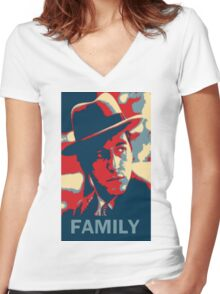 Corleone Family Women's Fitted V-Neck T-Shirt