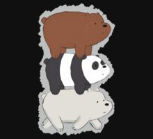 We Bare Bears Bearstack Kids Tee
