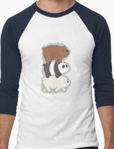 We Bare Bears Bearstack Men's Baseball ¾ T-Shirt