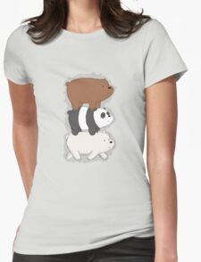 We Bare Bears Bearstack Womens Fitted T-Shirt