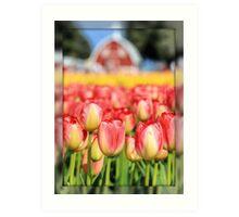 Tulip Town Tulips Art Print