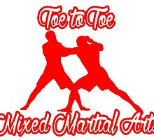 Toe to Toe Mixed Martial Arts Red by yin888