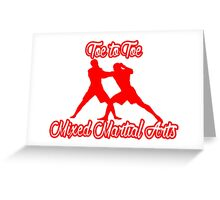 Toe to Toe Mixed Martial Arts Red Greeting Card