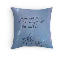 """All Time Low """"You're safe from the weight of the world"""" - Alex Gaskarth Signature Throw Pillow"""