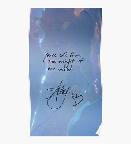 """All Time Low """"You're safe from the weight of the world"""" - Alex Gaskarth Signature Poster"""