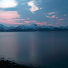 Calm sea at night by Frank Olsen