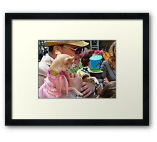 Easter Sunday on the 5th Avenue with my dogs Framed Print