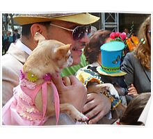 Easter Sunday on the 5th Avenue with my dogs Poster