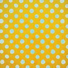 Abstract Circles Mint and Orange Polka Dots by rupydetequila