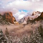 WINTER,YOSEMITE VALLEY by Chuck Wickham