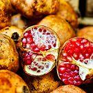 Pomegranates, Street Market, Siracusa, Sicily by Andrew Jones
