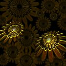 Golden AbstractFlower by RosiLorz