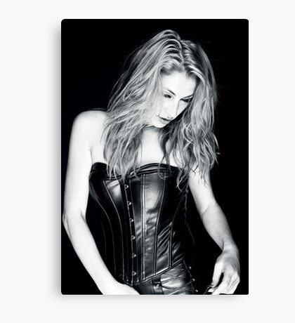 Blonde and Black Canvas Print