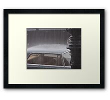 Heavy rain in Berlin Framed Print