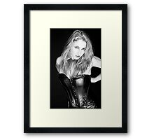 Blonde and Black #1 Framed Print
