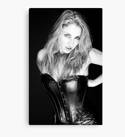 Blonde and Black #1 Canvas Print