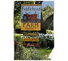 Fiddlehead Farm Market Poster