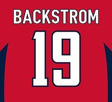 Washington Capitals Nicklas Backstrom Jersey Back Phone Case by Russ Jericho