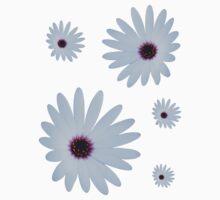 White Daisy One Piece - Short Sleeve