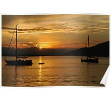 Sunset on Guaraquecaba Bay Poster
