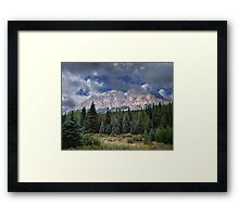 Castle Mountain in Autumn Framed Print