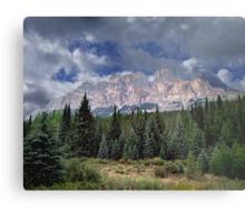 Castle Mountain in Autumn Metal Print