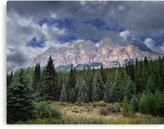 Castle Mountain in Autumn by George Cousins